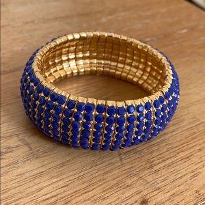 Cobalt Blue & Gold Bracelet